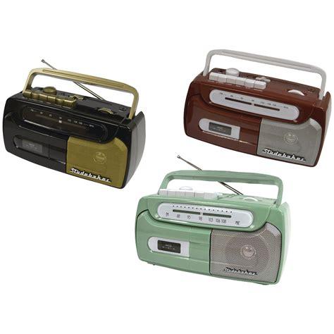 cassette player portable studebaker sb2127bg portable cassette player recorder