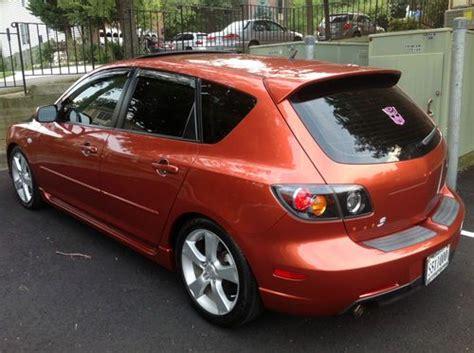 orange mazda 3 hatchback sell used 2004 mazda 3 hb 1 owner orange all dealer
