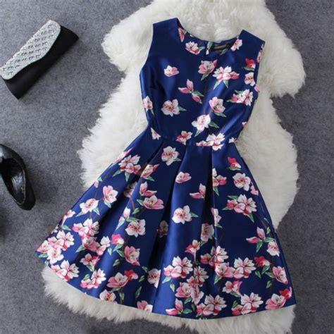 13492 Blue Pink Flower Dress dress dress light pink flowers blue dress