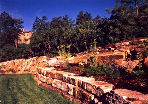 landscapers colorado springs stack retaining walls colorado quarry denver