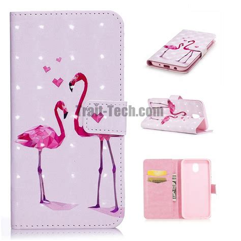 Samsung J 7 2017 55 Cone 3d Softcase Silicon J72017 3d smooth surface colored painting pu leather soft tpu card holder with stand support wallet