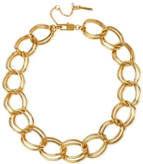 kenneth cole gold tone large link necklace in gold lyst
