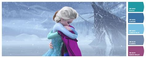 paint colors from chip it by sherwin williams inspired by disney frozen disney s frozen