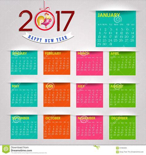 Calendrier Chinois Des Naissances Calendrier Pour L Objet 2017 Pour L 233 L 233 Ment De Conception