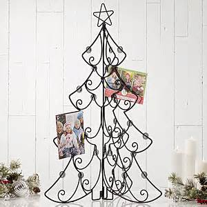 tabletop christmas card display holder christmas tree