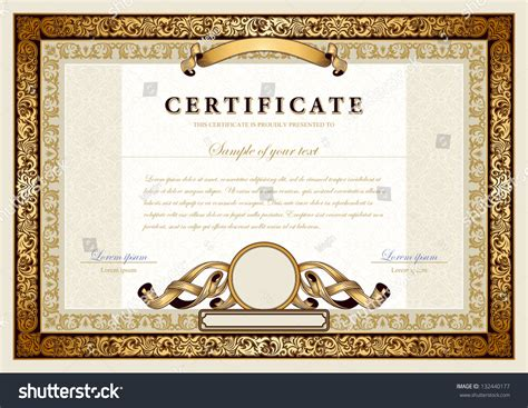 gold medal certificate template vintage certificate with gold luxury ornamental frames