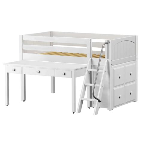 childrens bunk beds with desk fred loft bed with desk