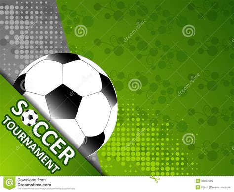 template for the invitation soccer tournament stock vector