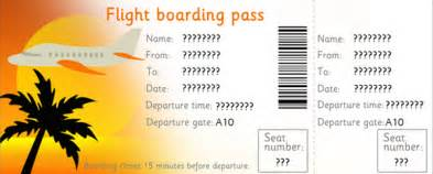 Pretend Plane Ticket Template by Editable Airline Tickets Eyfs Ks1 Play Free Early