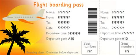 pretend plane ticket template editable airline tickets eyfs ks1 play free early