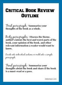Essay Writing Book Review by Critical Book Review Outline