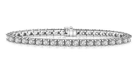 classic tennis bracelet in 14k white gold 10 ct