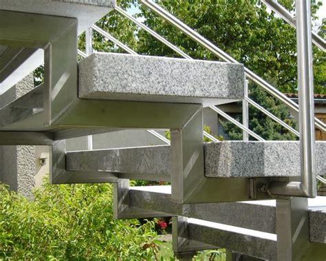 outdoor metal treppen treppe treppen stufe au 223 entreppe freitragend granit