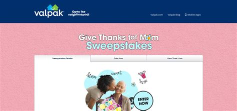 Valpak Com Sweepstakes - mother s day sweepstakes 2016 winzily