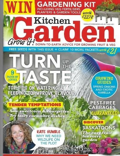 look out for rainbow chalk in kitchen garden magazine