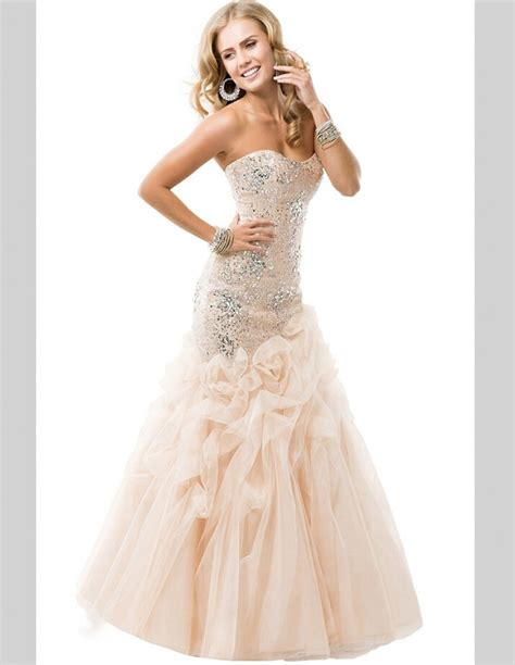 champagne lace colored mermaid wedding dresses crystal