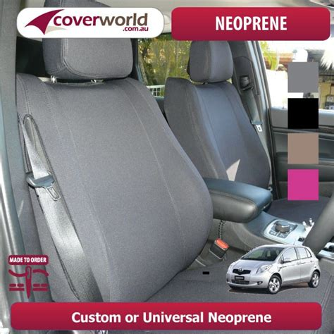 toyota yaris seat covers 2005 neoprene seat covers for territory sz wagon tailor made