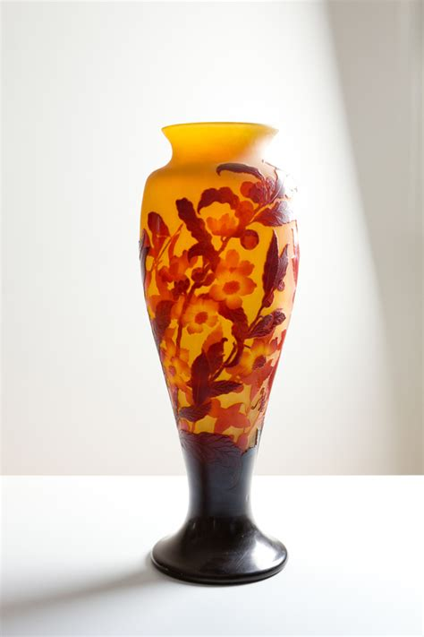 vaso galle galle vase with blossom etablissements gall 201