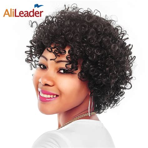afro cirly hair on miggle aded women aliexpress com buy alileader middle age women s short