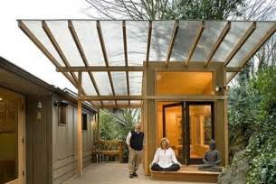 Building A Awning Over A Deck Meditation Hut Modern Garage And Shed Other Metro