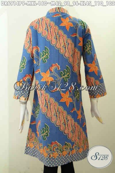 Dress Batik Kombinasi Dress Batik Dress Batik Modern Simple baju batik dress modern motif kombinasi bahan halus proses
