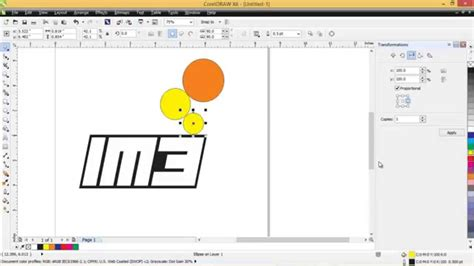 membuat logo huruf 3d cara mudah membuat logo im3 dengan coreldraw x6 youtube