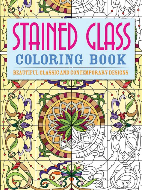 stained glass coloring book stained glass coloring book quarto gifts books