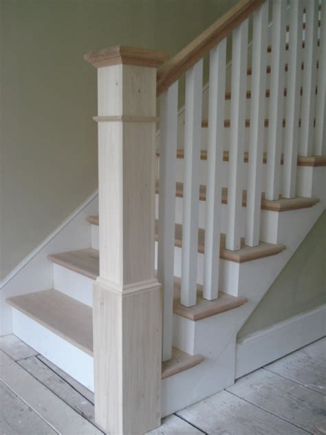 banister pole simple newel post design with square balusters railing