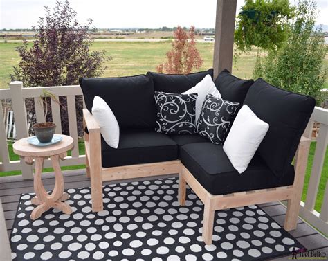 build your own outdoor couch furniture diy outdoor seating her tool belt together