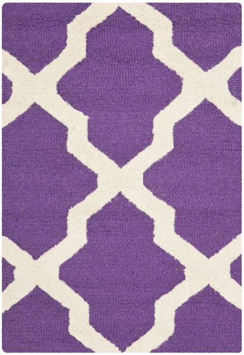 Area Rugs Purple Safavieh Cambridge Purple Ivory Wool Contemporary Area Rug Cam121k