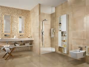 agréable Salle De Bain Beige Et Marron #1: salle-de-bain-moderne-carrelage-orange-design-frame-bagno.jpg