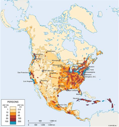 map of usa with population population density in america os 811 x 866 mapporn
