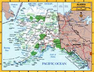 Detailed Map Of Alaska by Geographic Map Of Alaska State