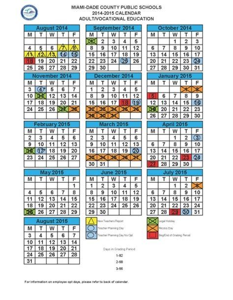 Dade County School Calendar Miami Dade School Calendar 2016 2017 Search