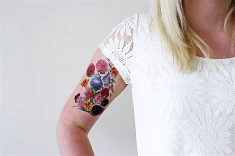 large temporary tattoos large and colorful floral temporary temporary