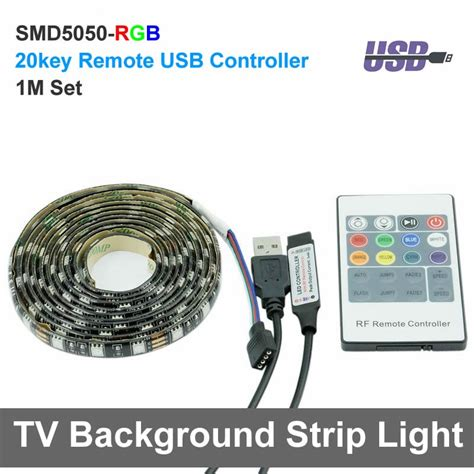 Led Rgb Waterproof 5050 90cm With Controller Usb 5v usb rgb led light 1m dc5v 5050 waterproof rgb tv background lighting with