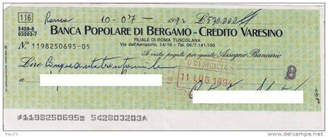popolare di bergamo credito varesino nazionale lavoro assegno bancario delce net
