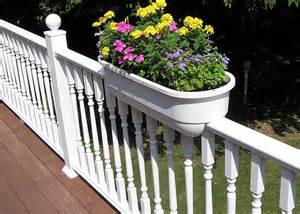 17 best ideas about deck railing planters on