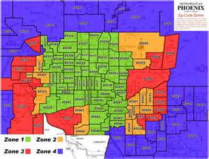 Phx Zip Code Map by Coverage Area Tts Courier Services