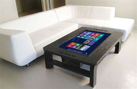 tech touchscreen coffee table elements of the streets