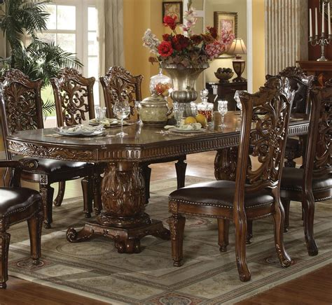 traditional formal dining room furniture acme furniture vendome 60000 traditional formal dining