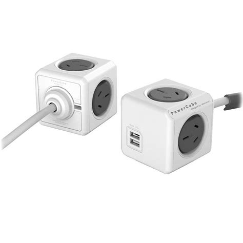 Kabel Usb Extension 1 5m allocacoc powercube extended usb 4 outlets 2 usb 1 5m