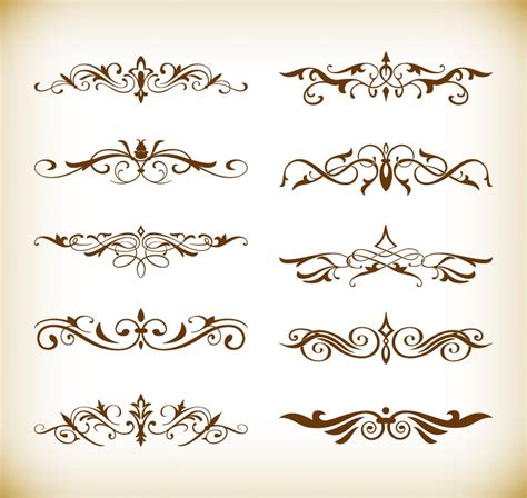 decorative elements vector set for your design free