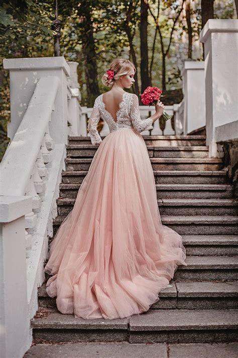 Pink White Wedding Dresses by Pink Wedding Dress Tulle Wedding Dress By Annaskoblikova