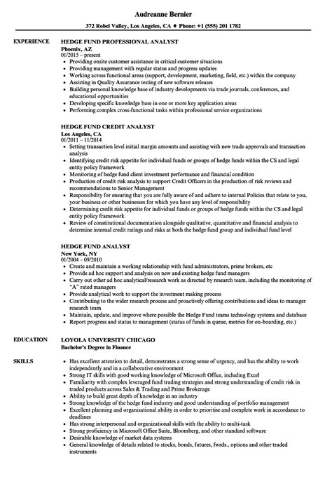 Hedge Fund Resume Sle Sarahepps Com Hedge Fund Resume Template