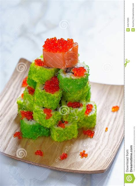 maki sushi roll for christmas stock image image 44575393