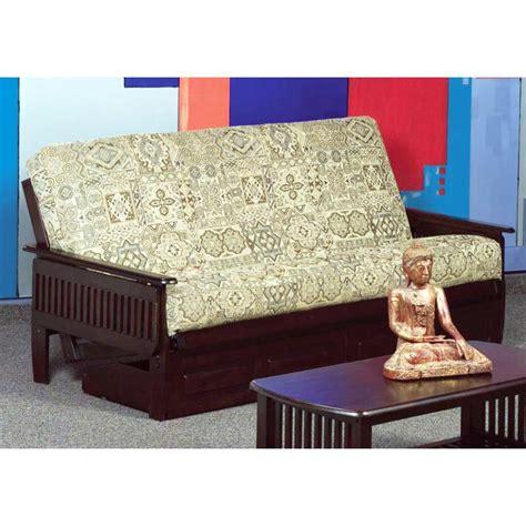 denver wood futon frame slatted arms java dcg stores