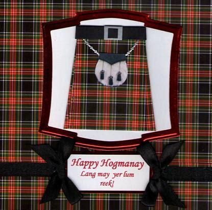 mccraftys cards craft challenge   year happy hogmanay