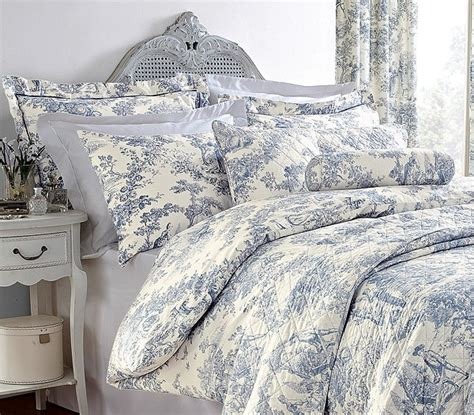 Vintage Duvet Sets Toile Duvet Covers Casual Bedroom Decoration With White