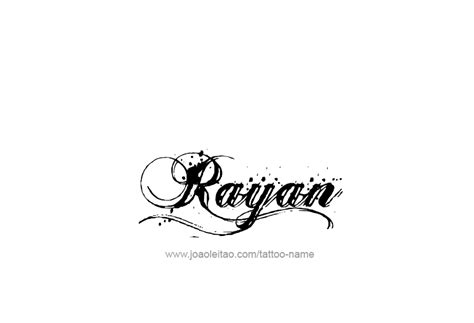 rayan name tattoo designs